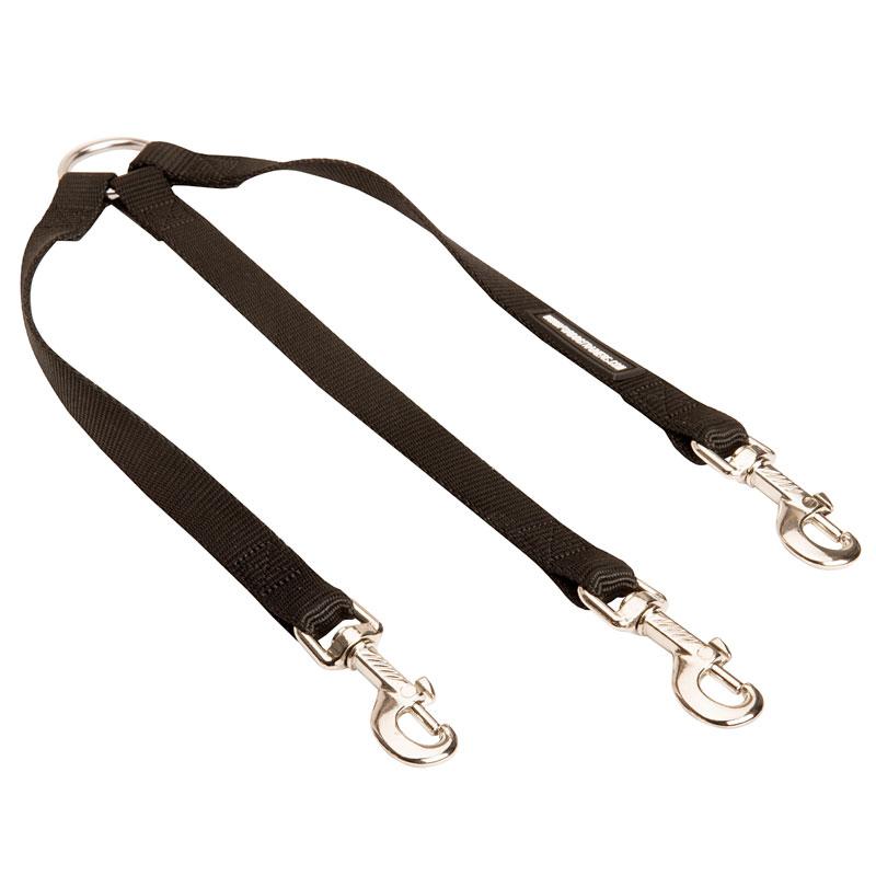 Laisse accouple nylon pour 3 chiens ln103 - Laisse lasso pour chien ...